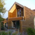 Ossature bois - Isolation écologique/Vêture pin thermo-huilé
